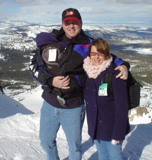 The family on top of Mammoth Mountain