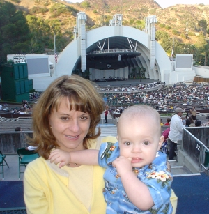 Laura and Nate at the Hollywood Bowl on September 11, 2005 for the Na Leo Pilimehana and Keali'i Reichel concert
