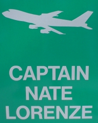 Nate's sign we ordered from Sporty's Pilot Supplies in Ohio.