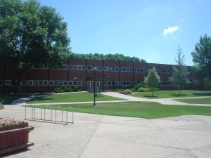 Delzell Education Building on the campus of the University of South Dakota in Vermillion.