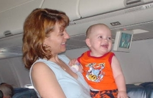 Nate on the Aloha Airlines flight from Santa Ana-John Wayne to Kahului, Maui