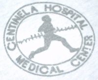 The logo of Centinela Hospital in Inglewood where I was born.